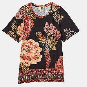 T Shirt Floral Yawanawa