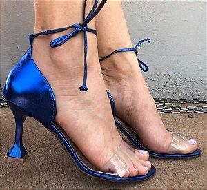 Sandália Salto Taça Metalizado