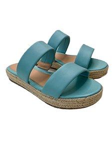 Sandália Flatform Corda Azul