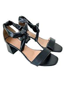 Sandália Salto Laço Preta