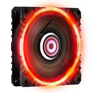 FAN PARA GABINETE 120MM CALAFRIO COM LED VERMELHO - FCAL120LDVM