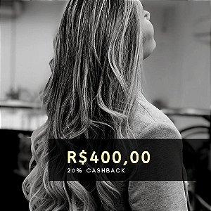 Voucher de R$ 400 | Cashback de 20%