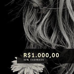 Voucher de R$ 1.000 | Cashback de 30%