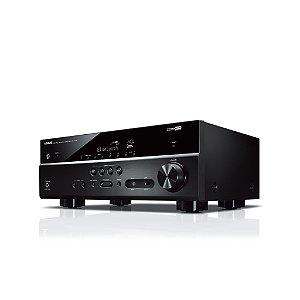 Receiver Yamaha RX-V385 BL Dolby Vision 5.1ch Bluetooth YPAO 4K UltraHD 3D HDR10 - Bivolt