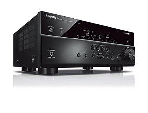 Receiver Yamaha RX-V685 BL 7.2ch Dolby Atmos BT Wi-Fi AirPlay 4K UHD HDR10 Zona 2 – Bivolt