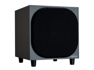 "Subwoofer Ativo Monitor Audio Bronze SBRSW10 para Home Theater - 10"" com 220W Class-D - Black / White - Bivolt"