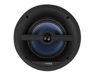 """Wave Sound Caixa de Som de Embutir WSR120 Quadrada Tela Slim 6,5"""" 120W - Unidade - Black / White"""