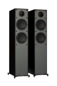 Monitor Audio SM200 - Par de Caixas Acústicas Torre 200W - Black / White / Walnut