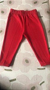 Calça em Suedine Vermelha Tam M ( 6-9 meses)