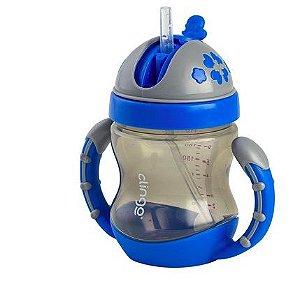 Copo com Alça Válvula e Canudo Colors Azul - Clingo