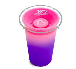Copo de Treinamento 360º Changing Color Rosa - Munchkin