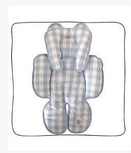 Redutor de Bebe Conforto e Carrinho - Xadrez Vichy Azul
