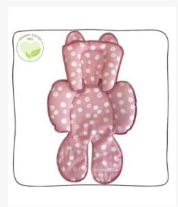 Redutor de Bebe Conforto e Carrinho Organic Cotton Pink Birds