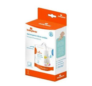 Saco de Esterilizar Para Micro-ondas Limpeza de Acessórios (5 uni) - Babydeas