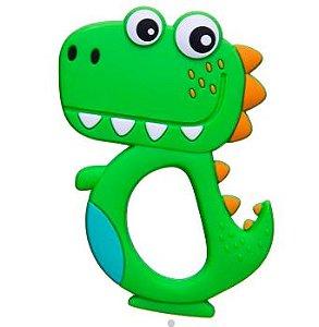 Mordedor em Silicone Dino Verde