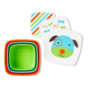 Kit com 3 Porta Snacks Zoo Cachorro - Skip Hop