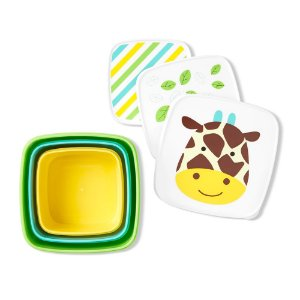 Kit com 3 Porta Snacks Zoo Girafa - Skip Hop