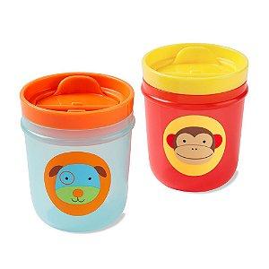 Kit com 2 Copos Zoo Macaco e Cachorro - Skip Hop