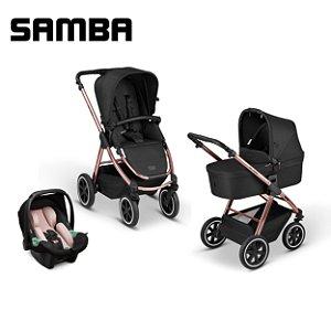 Carrinho de Bebê ABC Design - Samba Diamond Rose Gold Trio