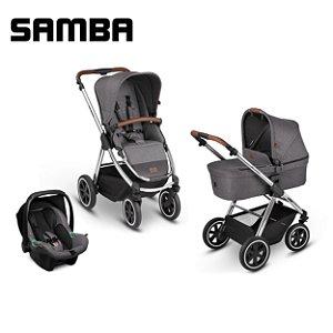 Carrinho de Bebê ABC Design - Samba Diamond Asphalt Trio