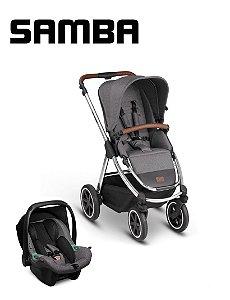 Carrinho de Bebê ABC Design - Samba Diamond Asphalt com Bebê Conforto