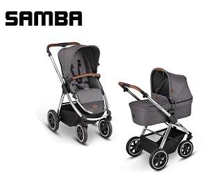 Carrinho de Bebê ABC Design - Samba Diamond Asphalt Duo