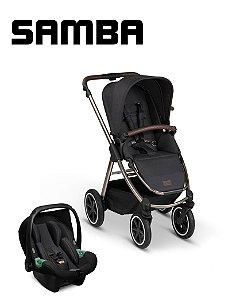 Carrinho de Bebê ABC Design - Samba Diamond Dolphin com Bebê Conforto