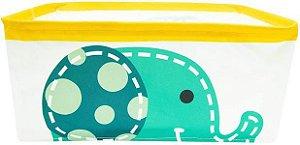 Cesto Plástico Organizador Elefante Verde - Marcus & Marcus