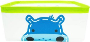 Cesto Plástico Organizador Hipopótamo Azul - Marcus & Marcus