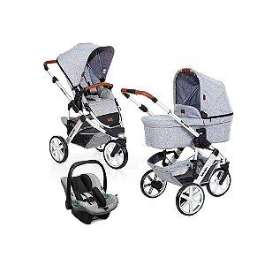 Carrinho de Bebê ABC Design - Salsa 3 Graphite Grey TRIO (Bebê Conforto Tulip e Moisés)