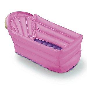 Banheira Inflável Bath Buddy Rosa - Multikids