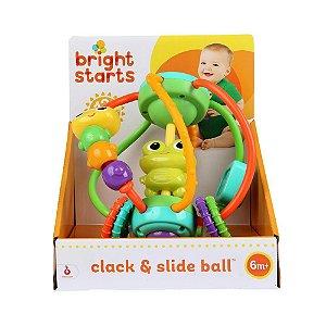 Brinquedo Bola Giratória Interativa Clack & Slide Ball - Bright Starts