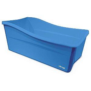 Banheira Portátil Dobrável Azul - Clingo
