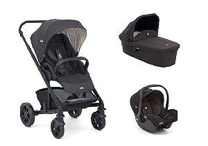 Carrinho de Bebê Joie - Chrome Ember com Bebê Conforto