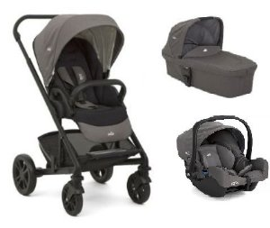 Carrinho de Bebê Joie - Chrome Foggy Gray com Bebê Conforto
