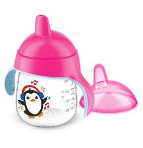 Copo Pinguim 260ml - SCF753 - Avent - Rosa