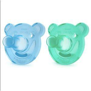 Chupetas Soothie Urso 0-3M  - Phillips Avent - Azul/Verde