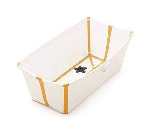 Banheira Portátil e Dobrável Amarela com Plug Térmico - Stokke