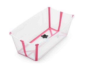 Banheira Flexível Rosa com Plug Térmico - Stokke