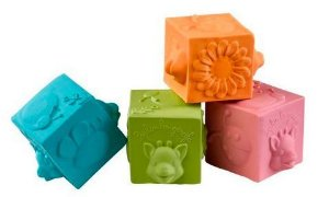 Cubes So Pure Sophie La Girafe (4 Cubos 100% Borracha Natural)
