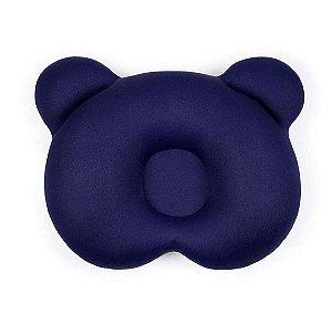 Almofada Ergônomica para Cabeça Ursinho - Azul Marinho