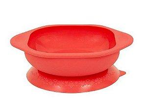 Tigela em Silicone com Sucção - Vermelho