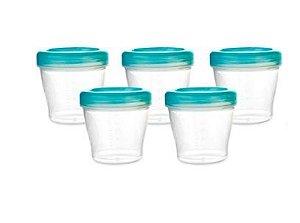 Conjunto de Potes de Armazenamento Azul - 8 Potes para Papinha - KaBaby
