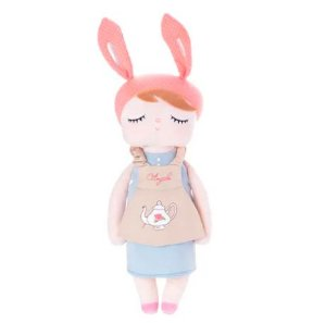 Boneca Metoo Angela  Doceira  Retrô Bunny Rosa 33 cm