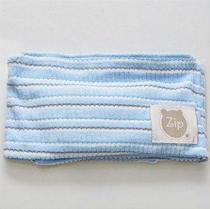 Faixa Abdominal com Ervas Azul - Zip