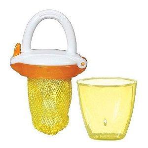 Porta Frutinha  com redinha e com Tampa Amarelo - Munchkin