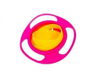 Giro Bowl Buba Baby Blister Potinho Giratorio 360 Graus Rosa