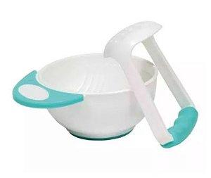 Kit Amassador Para Papinha Para Bebê Azul - Buba