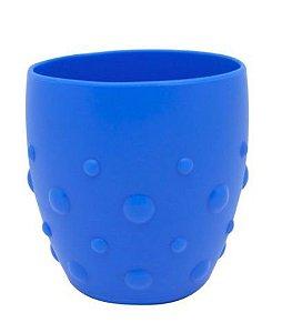 Copo em Silicone Para Treinamento Com Grip Hipopotamo Azul Marcus & Marcus