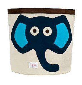 Cesto Organizador Redondo Elefante Azul 3 Sprouts